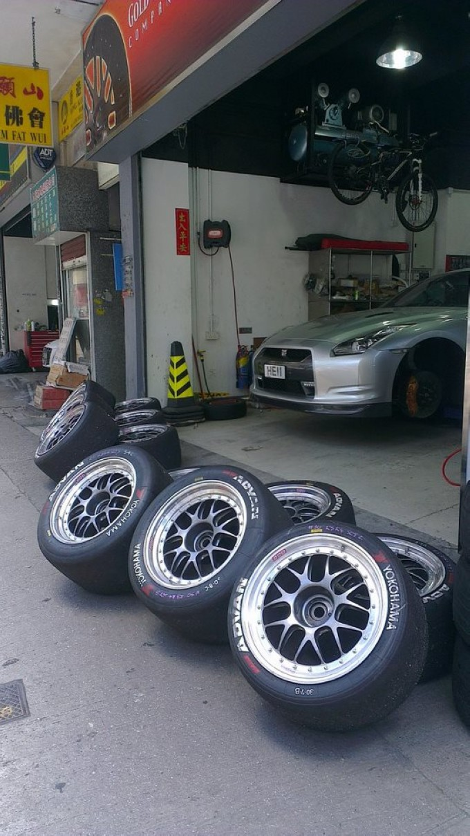 GT Asia Yokohama Advan Slick Tire  ,wheels,grwheels