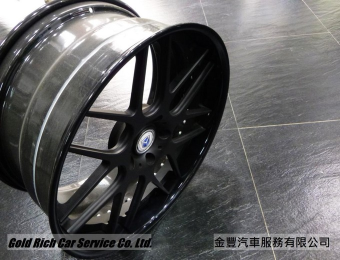 MORR MS8 ,美國鍛造3夾輪圈, 22 inch ,Texture Black with Gloss Black Lip,for Porsche Cayenne,Audi Q7,M.Benz G-Class