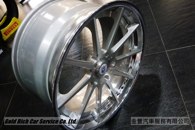 MORR MS10 ,美國鍛造3夾輪圈, 21 inch ,Brushed with Polish Lip ,for Porsche Panamera